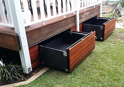 Construire son patio soi m me espace de rangements constructeur virtuel - Construire un meuble de rangement ...