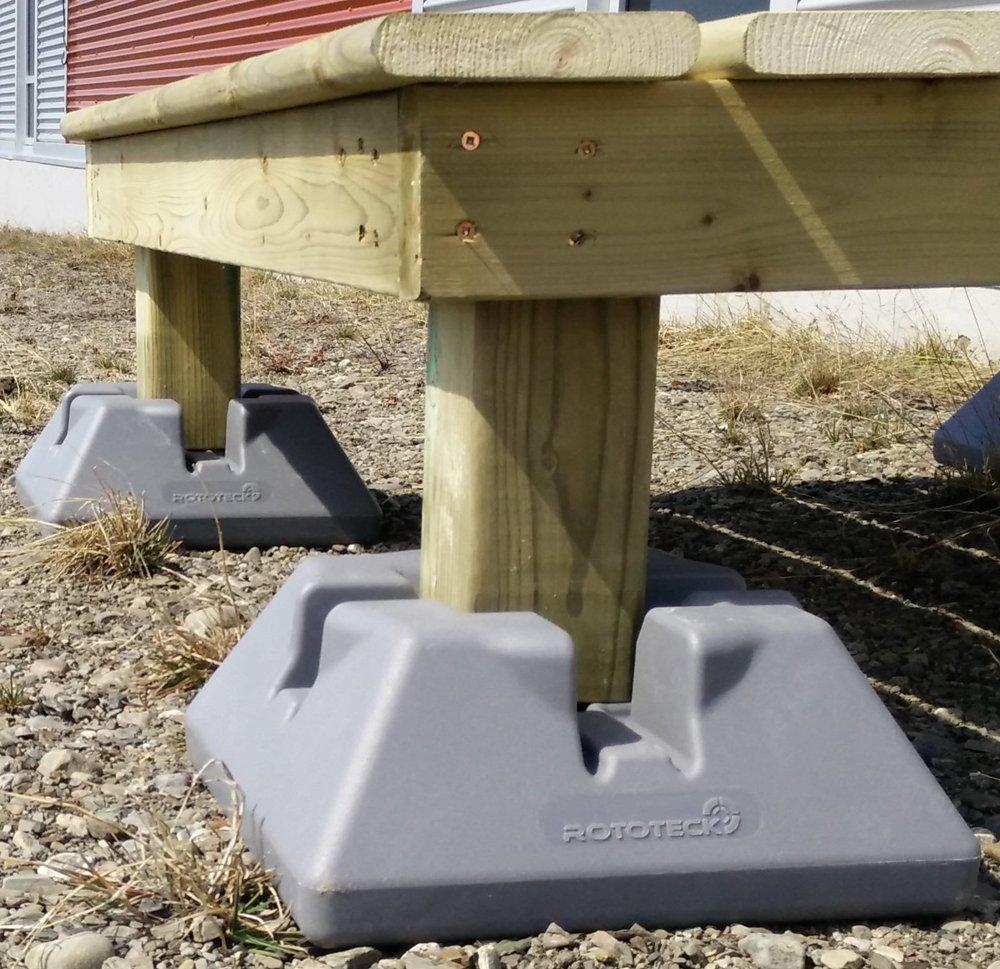 Comment Fabriquer Une Terrasse En Beton dek-block - les bases pour patio et terrasse | constructeur