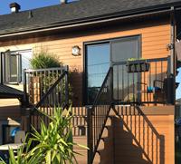 Rampe pour patio en aluminium